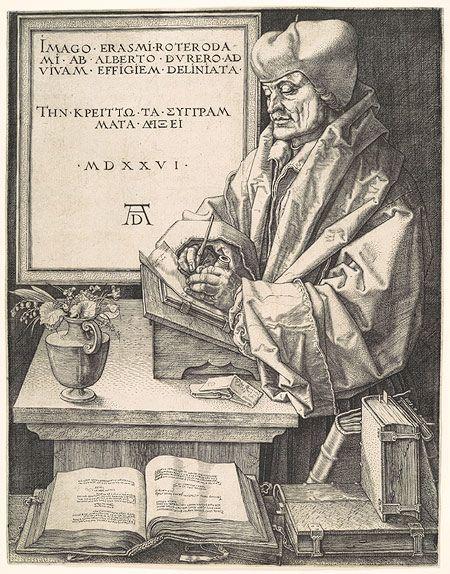 Albrecht Dürer: Erasmus of Rotterdam (19.73.120) | Heilbrunn Timeline of Art History | The Metropolitan Museum of Art | Engraving