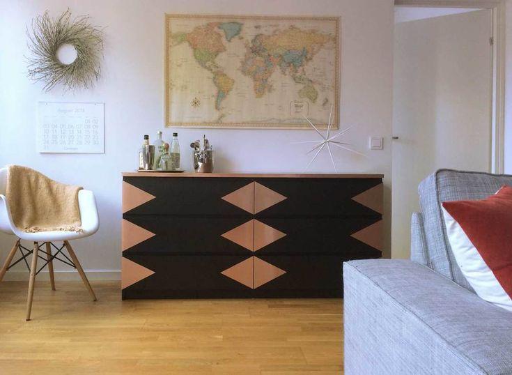 Copper Triangle + Ikea Malm Dresser Hack   CAROLE + ELLIE INSPIRATION FOR CRAFTING