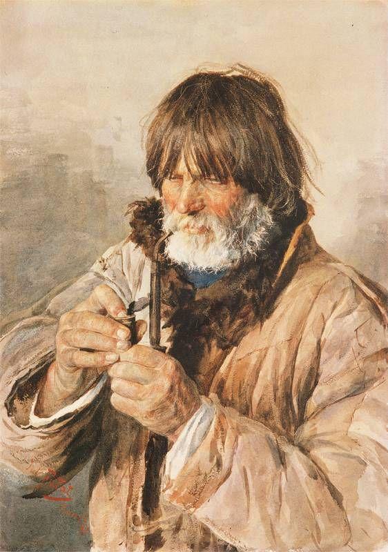 Portret mężczyzny z fajką, 1881