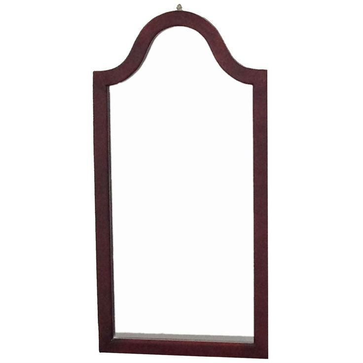 Cherrywood Accent Wall: Arc Top Vanity Accent Wall Mirror In Cherry Wood Finish