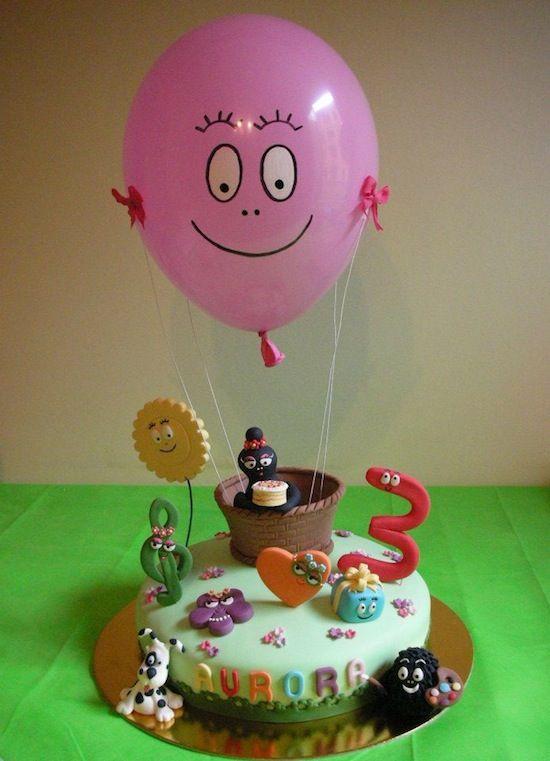 Balloon Barbapapa cake