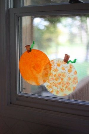 Coffee Filter 'Stained Glass' Pumpkins - I Can Teach My Child!