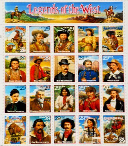 1993 - USPS - Classic Collection - Legends of the West - 29 cent Sheet of 20 Stamps - See Description Below - New - Mint - Out of Production - Limited Edition - Collectible by Classic Collectible. $18.50. 1993 - USPS - Classic Collection - Legends of the West - 20 Stamp Sheet - 29 cent Stamps - Stamps Include: Home on the Range / Buffalo Bill / Jim Bridger / Annie Oakley / Native American Culture / Chief Joseph / Bill Pickett / Bat Masterson / John Fremont / Wyatt Earp / Nellie C...