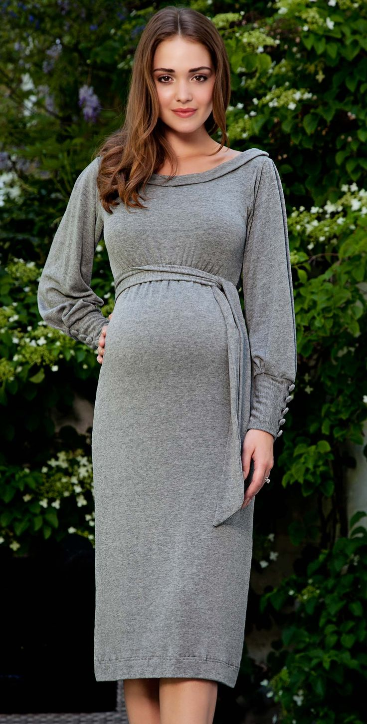 Best 25 maternity winter dresses ideas on pinterest long alicia maternity dress storm grey by tiffany rose looks super comfy would be ombrellifo Image collections