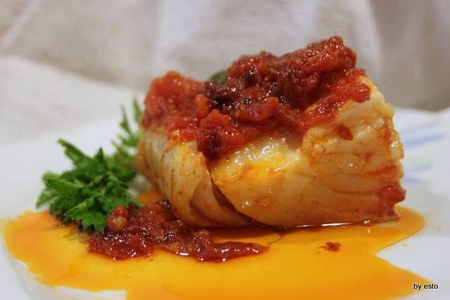 Filetto di stoccafisso al pomodoro