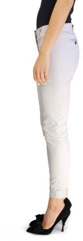 Miu Miu Women's Cotton Slim Fit Chino Pants Grey