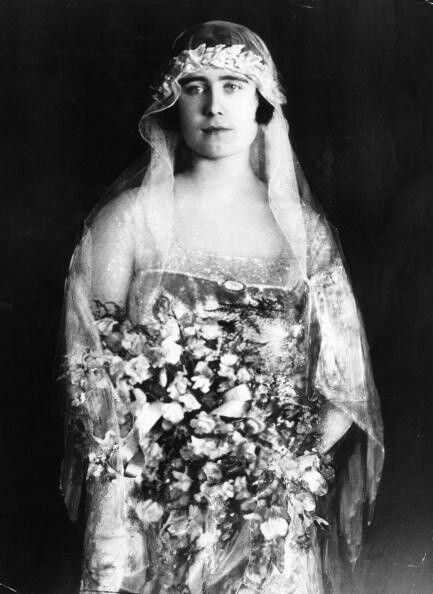 Queen Mother on her wedding day