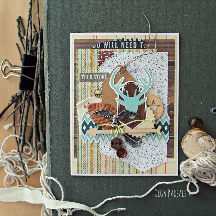 Рождение, открытка этно
