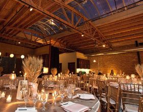 Wheat Bouquets Are The Perfect Centerpieces For This Fall Wedding At Loft On Lake Event Venue In Chicago