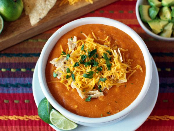 Top Secret Recipes | California Pizza Kitchen Sedona White Corn Tortilla Soup Low-Fat Copycat Recipe