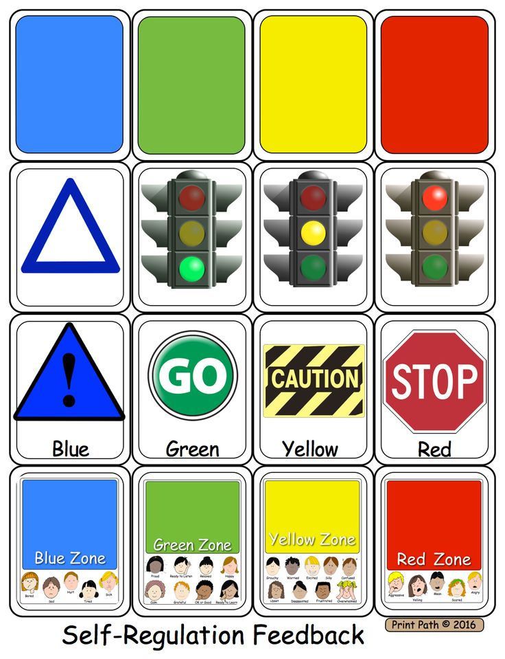 Capitals First! by Print Path: Zones of Regulation: Using Visuals for Feedback and Self-Regulation