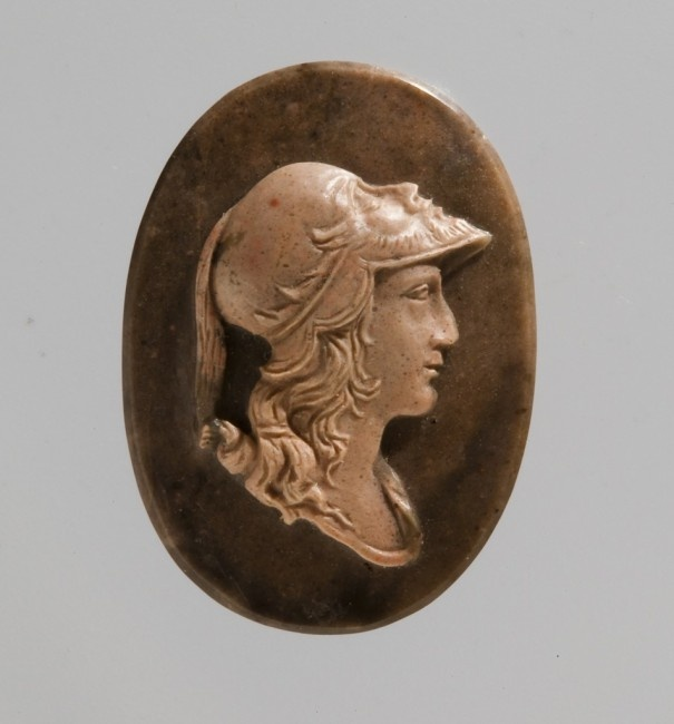 Alexander the Great cameo with helmet