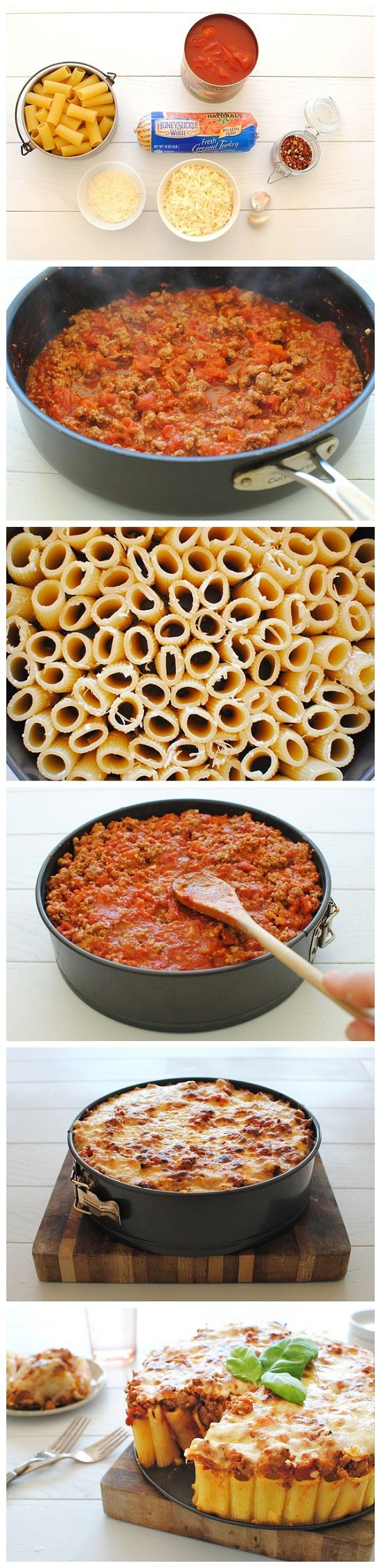 Rigatoni Pasta Pie--- looks good!!!!