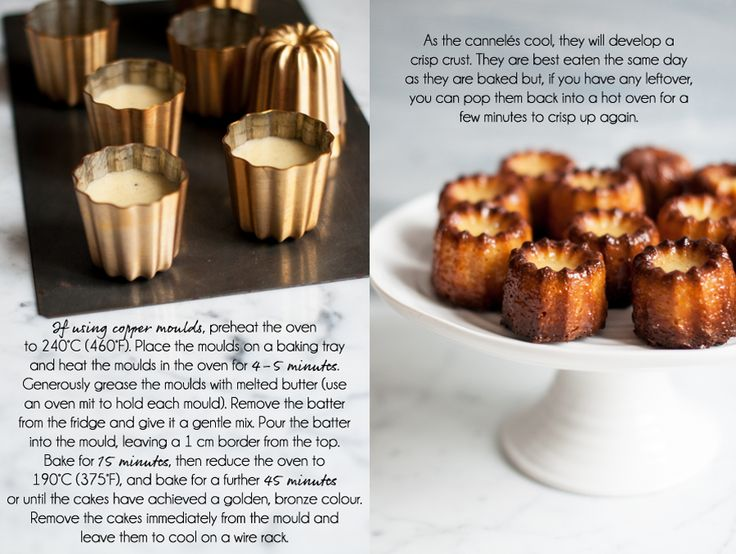 How to make delicious canneles using silicone moulds or copper moulds with this step-by-step photo recipe guide.