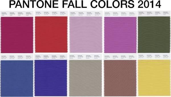 Pantone Fall Colors 2014 -  www.mybrandnewimage.com
