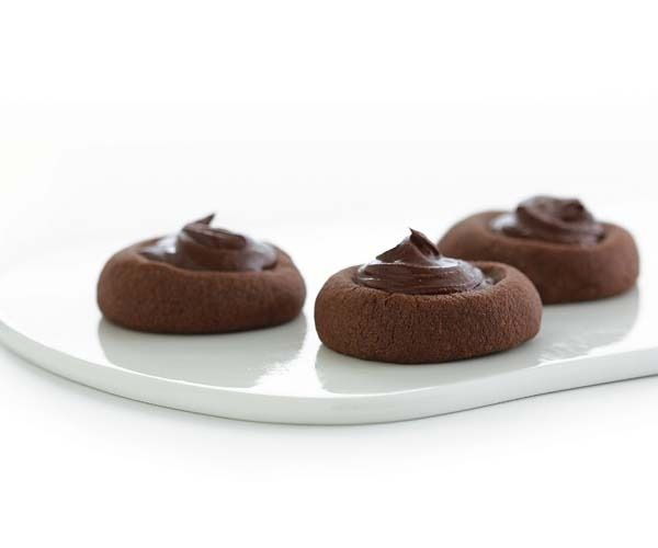 Chocolate-Peppermint Thumbprints by Fine Cooking   I am a Cookie ...
