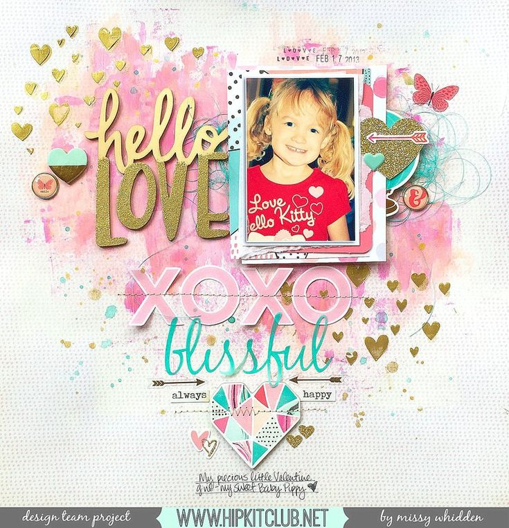 Hip Kit Club DT Project - 2016 January Hip Kits; Crate Paper, Heidi Swapp, Shimmerz, Basic Grey, My Mind's Eye