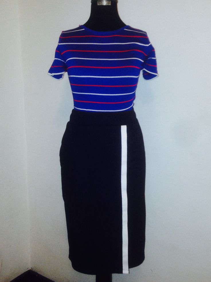 Navy style pencil skirt modest lds outfit
