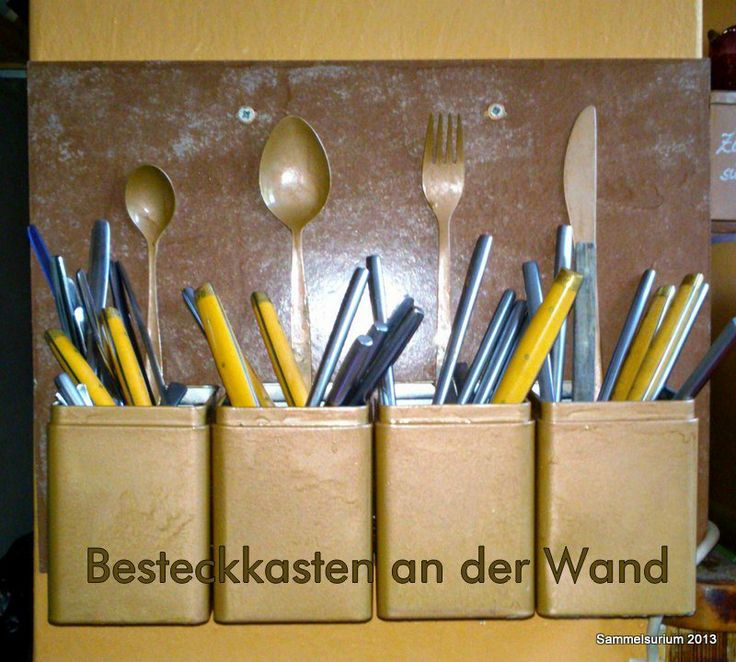 Upcycling DIY Cutlery Tray Utensil Box in copper