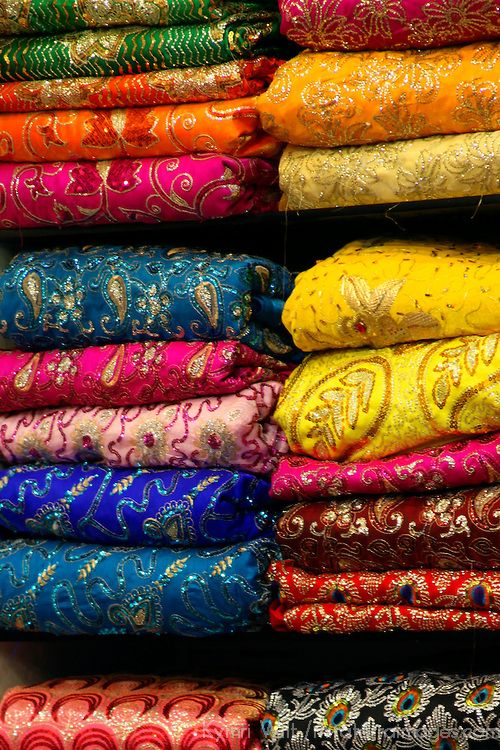 I love the vivid colors and dramatic patterns of saris. I get sick of florals, dots and stripes sometimes.