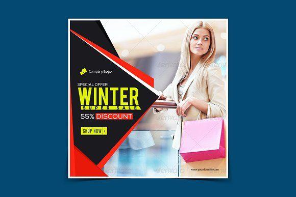 Winter sale Instagram banner by Nisha Mehta Droch on @creativemarket