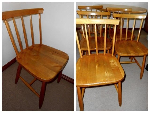 6 X Solid Yellowwood Windsor Dining Chairs For Sale R255 EachAvailable From A Moving On Pre
