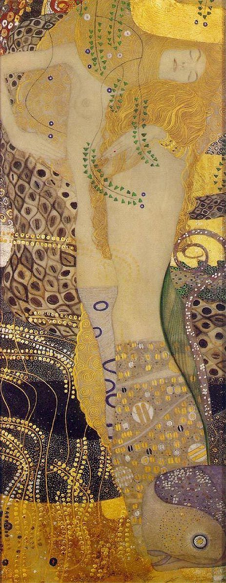 Klimt, water serpents i