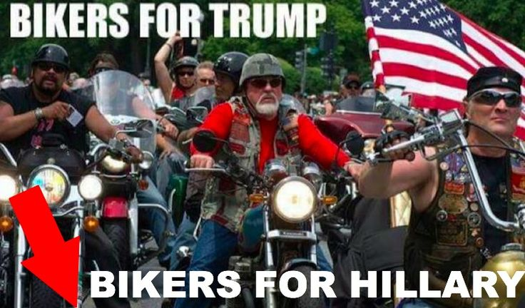 joke photo bikers for trump/bikers for hillary | HILARIOUS: Here's The DIFFERENCE Between 'Bikers For Trump' & 'Bikers ...