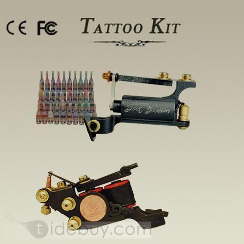 タトゥーサプライキット2手作りのマシン40インクカラー