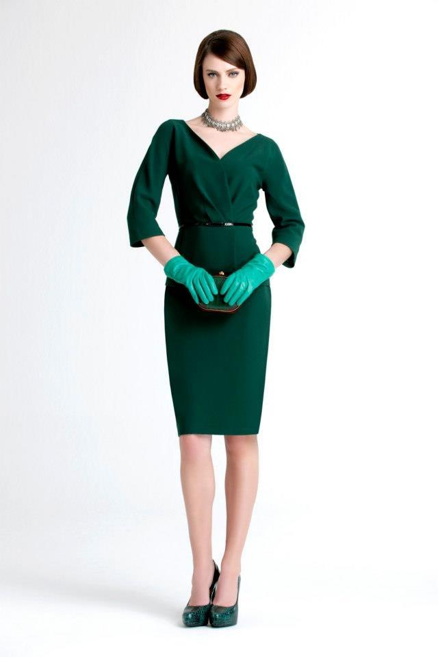 Nice dress (minus the horrific gloves) by Vakko