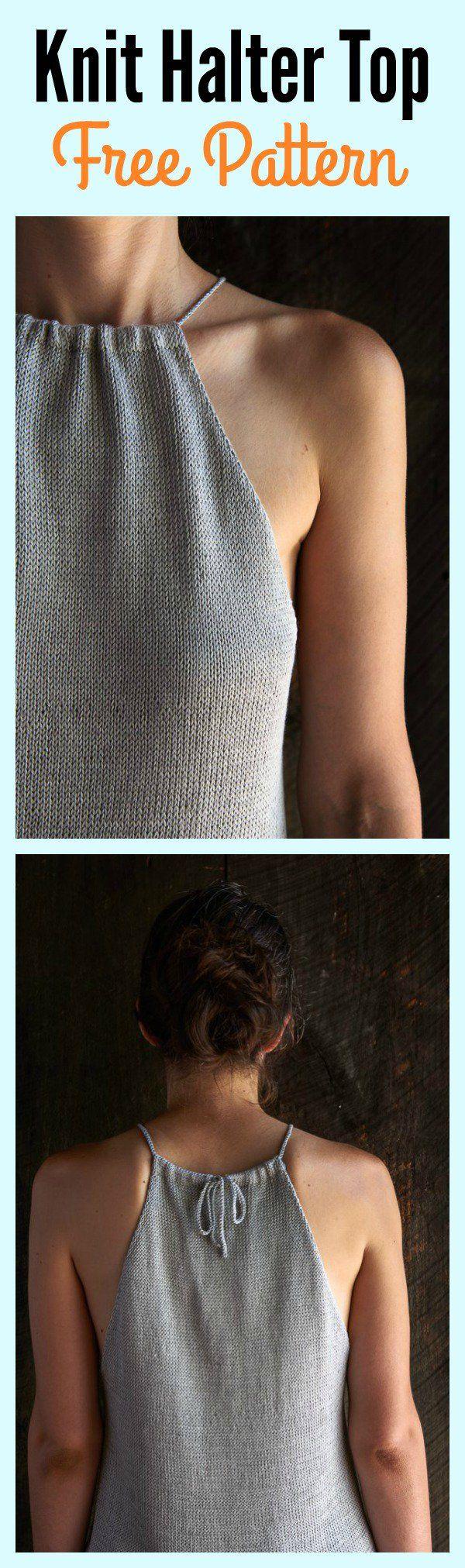 Knit Halter Top Free Pattern