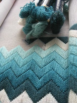 Longstitch chevron cushion?