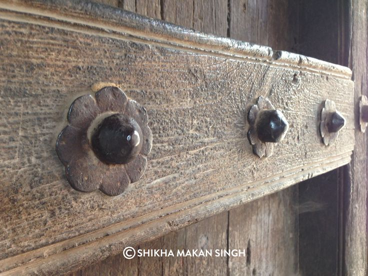 Details from a traditional door in Maharashtra, India. This one is from Bhor.