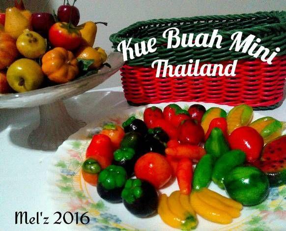 Kue buah mini - Thailand (Kanom Look Choup)