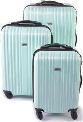 Σετ βαλίτσες Ταξιδιού 3 τμχ. από ελαφρύ σκληρό υλικό με τηλεσκοπικό χερούλι και κλείδωμα ασφαλείας σε Πράσινο/Γαλάζιο παστέλ χρώμα, Penn 41208 - Penn