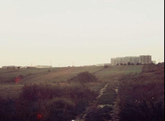 widok z Czubów Północnych w kierunku Rur, 1971 r. Wieżowce przy ul. Bohaterów Monte Cassino/Leonarda ??? źródło; megajankiel