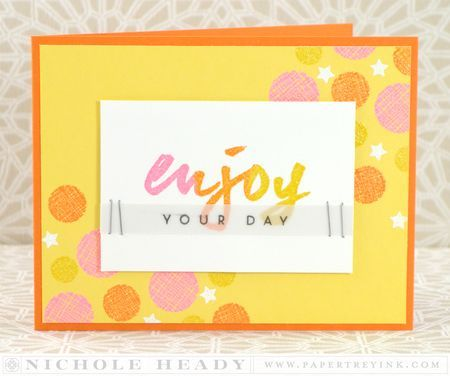 Enjoy Your Day Card by Nichole Heady for Papertrey Ink (March 2014)