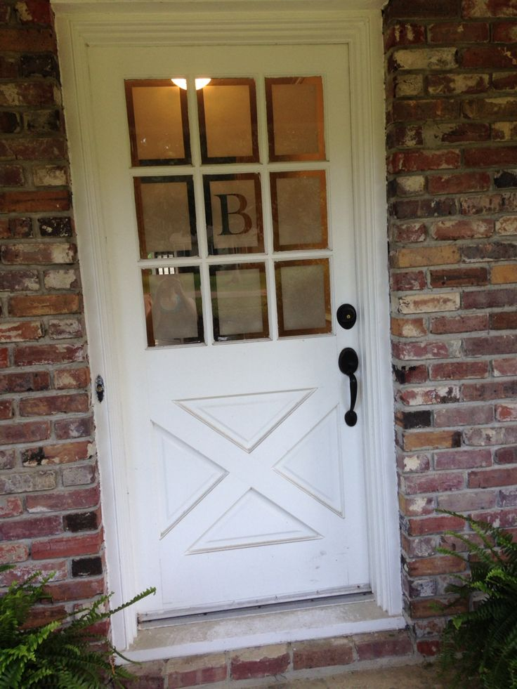 Diy Front Door Glass Frosting I Did This Project In A