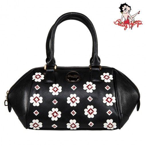 Bolsa Betty Boop | Bolsa BETTY BOOP coleção Clover Bag 2014 preta | B18A102-PT - Preto