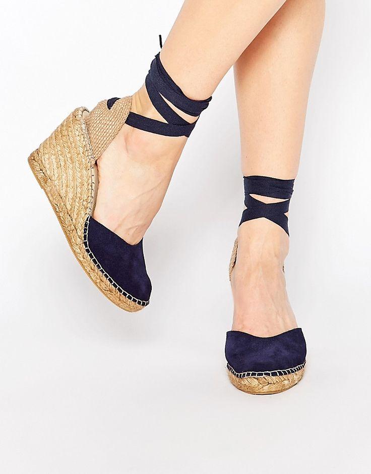 Immagine 1 di Park Lane - Scarpe stile espadrillas con zeppa e allacciatura alla caviglia