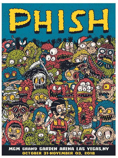 'Phish at Las Vegas' AP print by Hex Aunzo for Posters And