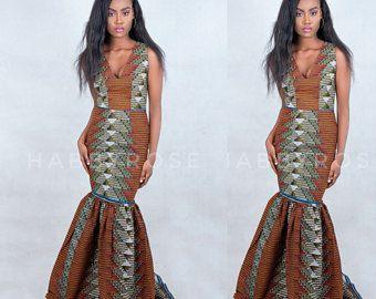 Uju African party dress , African dress , African print , Long African dress , African fabric, African clothing, Ankara print