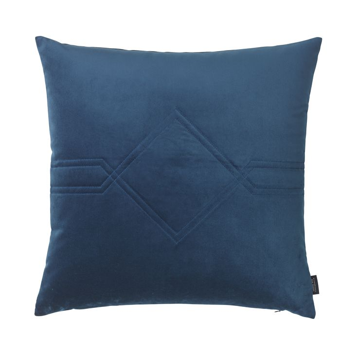 LOUISE ROE COPENHAGEN collection SS16  Blue velvet cushion in Royal Blue. Fabric from Kvadrat textiles  www.louiseroe.dk