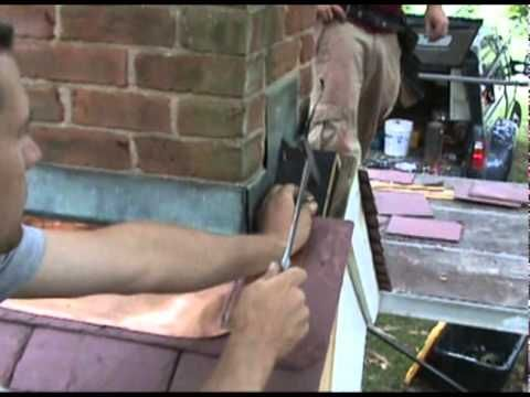 Soldering A Copper Chimney Apron On A Slate Roof, By Liam Tower Of Slate  Affair, Inc., At The Slate Roofing Contractors Association Of North  America, Inc.