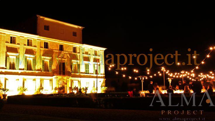 ALMA PROJECT @ Villa di Geggiano - bulbs lighting - garden - façade lighting