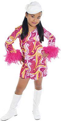 Girls Go Go Disco Costume Hippie and Disco Costumes