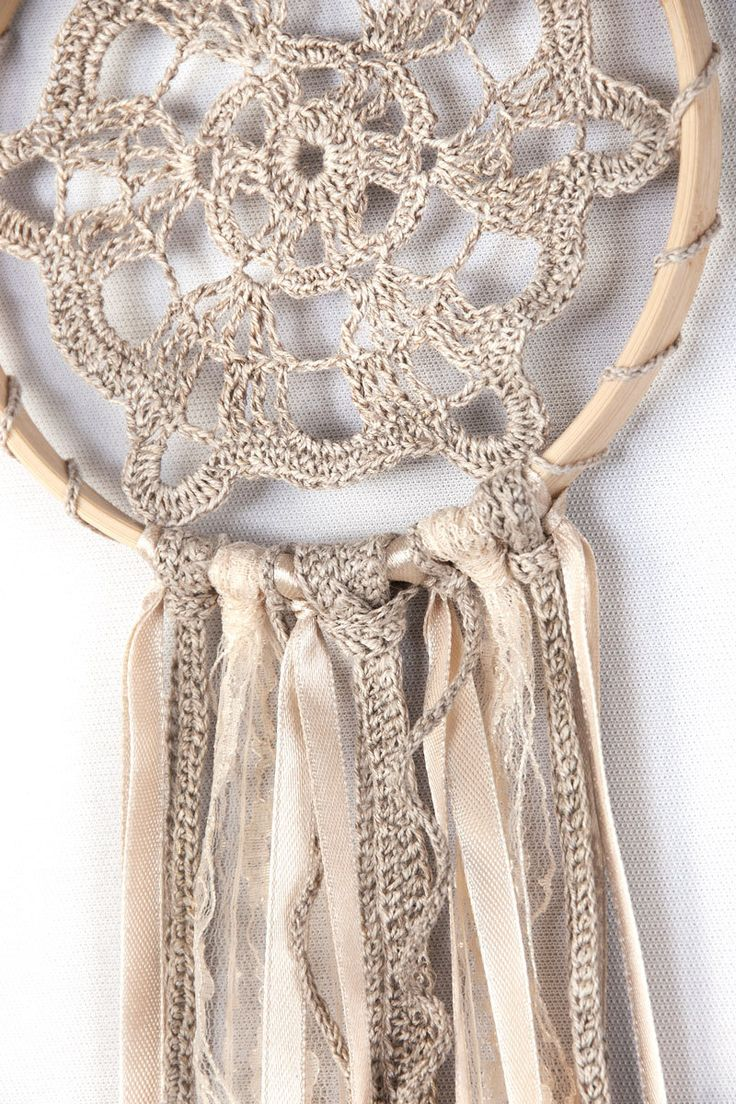 Dreamcatcher Beige Dream Catcher Crochet by DreamcatchersUA