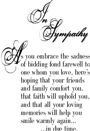 Very nice sympathy message.