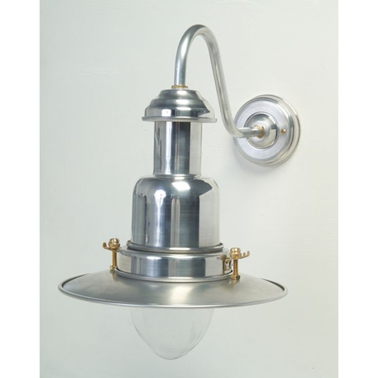 Silver Fishermanu0027s Outdoor Wall Light