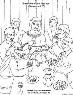 joseph second in command to pharaoh coloring sheets